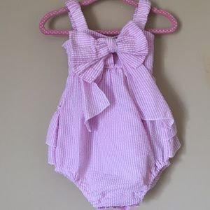 Other - Vogue Fashion Striped Bow Romper